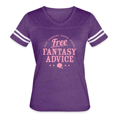 Free Fantasy Football Advice - Women's Vintage Sport T-Shirt
