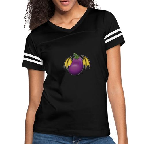 Eggplant Logo With White Outline - Women's Vintage Sports T-Shirt