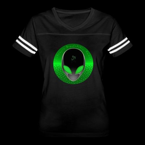 Psychedelic Alien Dolphin Green Cetacean Inspired - Women's Vintage Sport T-Shirt