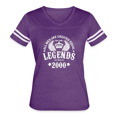 Legends are Born in 2000 - Women's Vintage Sport T-Shirt