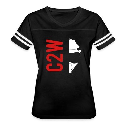 ChaseOnTwoWheels Split Logo - Women's Vintage Sport T-Shirt