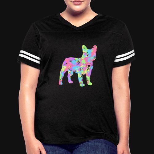 Frenchie love splatter - Women's Vintage Sport T-Shirt