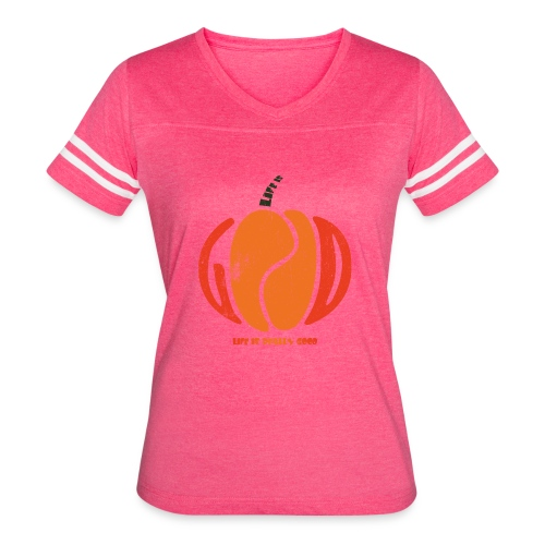 Life Is Really Good Pumpkin - Women's Vintage Sport T-Shirt