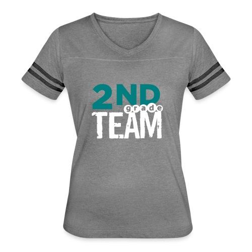 Bold 2nd Grade Team Teacher T Shirts - Women's Vintage Sport T-Shirt