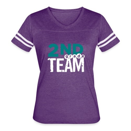 Bold 2nd Grade Team Teacher T Shirts - Women's Vintage Sport T-Shirt