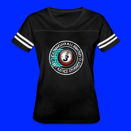 Vintage Cannonball Bingo 8-Bit Ball Tee - Women's Vintage Sport T-Shirt