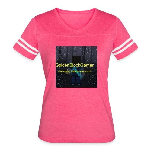 GoldenBlockGamer Tshirt - Women's Vintage Sport T-Shirt