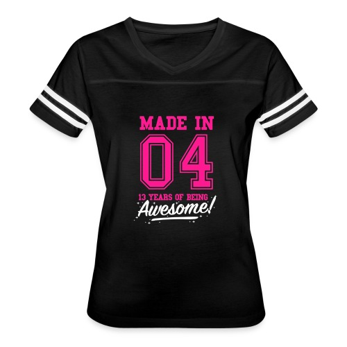 Made In 2004 Awesome 13th Birthday - Women's Vintage Sport T-Shirt