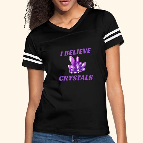 I BELIEVE IN CRYSTALS TEE - Women's Vintage Sport T-Shirt