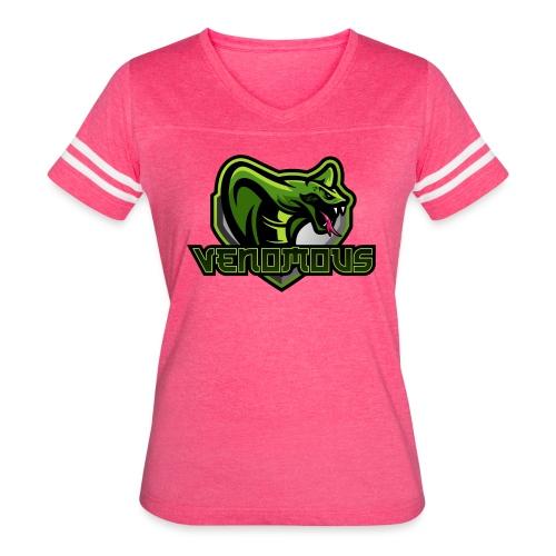 Venomous Text Logo - Women's Vintage Sport T-Shirt