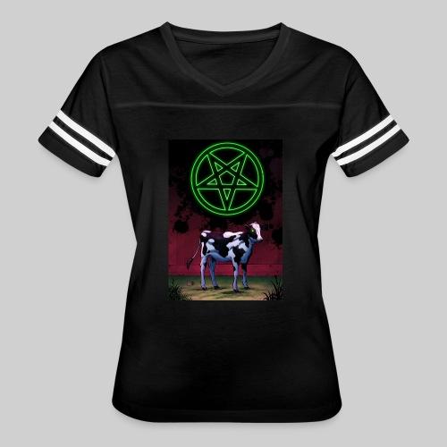 Satanic Cow - Women's Vintage Sport T-Shirt
