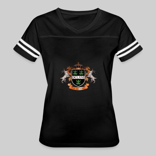 Satanic Heraldry - Coat of Arms - Women's Vintage Sport T-Shirt