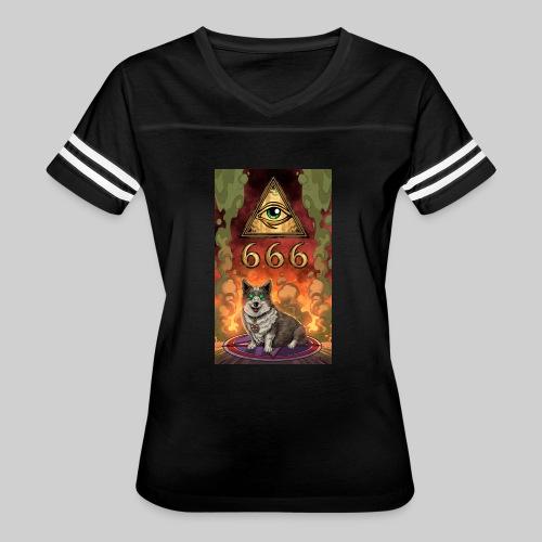 Satanic Corgi - Women's Vintage Sport T-Shirt