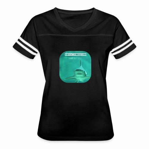 "InovativObsesion ""SHARKS DON'T SLEEP"" apparel - Women's Vintage Sport T-Shirt"
