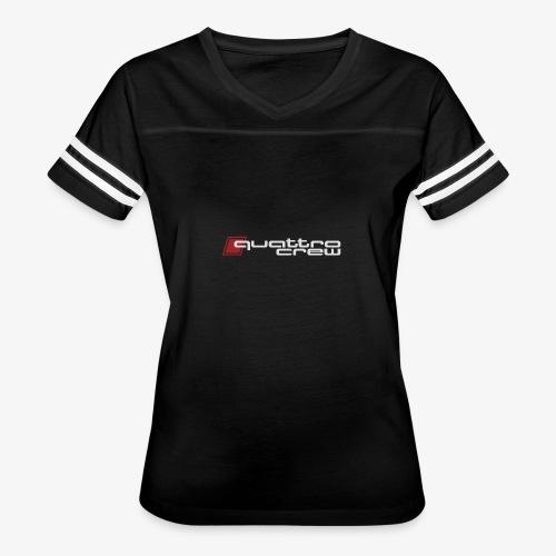 Quattro Crew - Light logo - Women's Vintage Sport T-Shirt