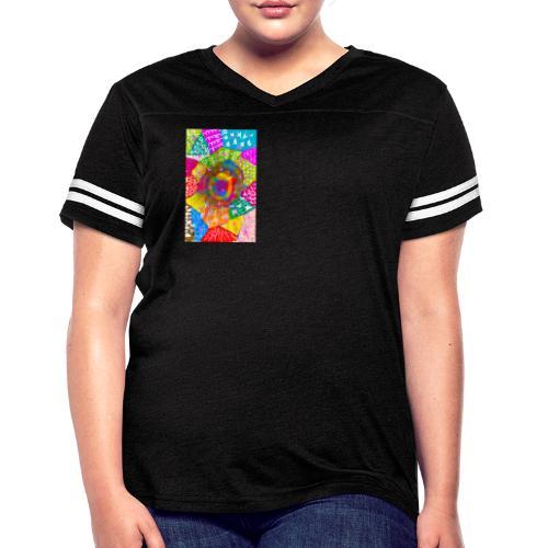 Patchwork - Women's Vintage Sport T-Shirt