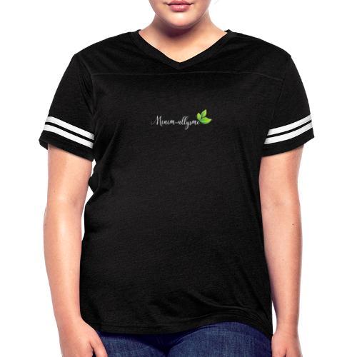 Logo en blanc - T-shirt sport rétro pour femmes