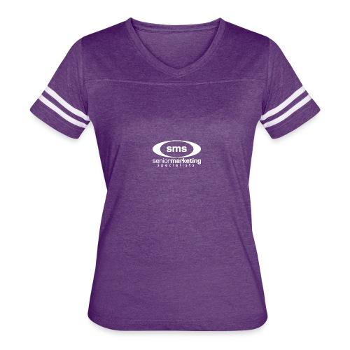 SMS White Logo - Women's Vintage Sport T-Shirt