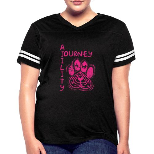 Journey Agility With Woot on Back - Women's Vintage Sport T-Shirt