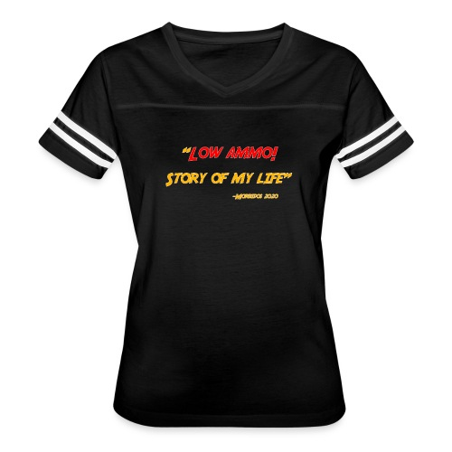 Logoed back with low ammo front - Women's Vintage Sports T-Shirt