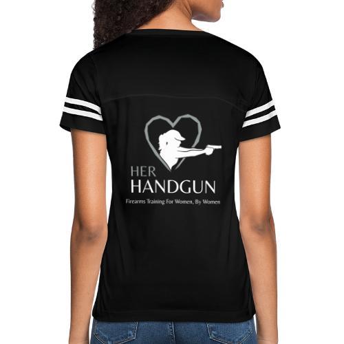 Official HerHandgun Logo with Slogan - Women's Vintage Sports T-Shirt