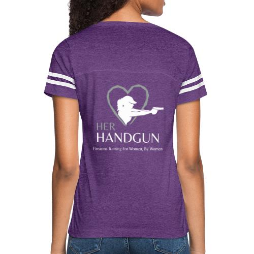 Official HerHandgun Logo with Slogan - Women's Vintage Sport T-Shirt