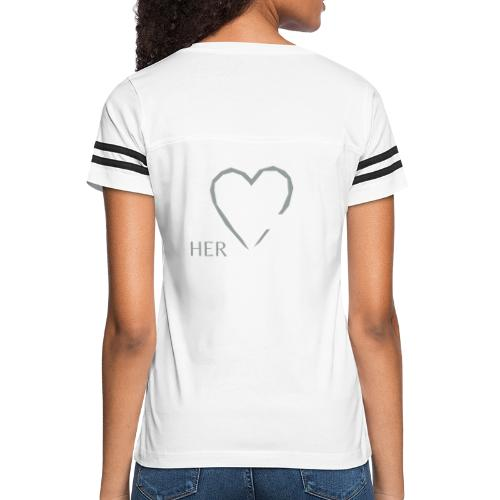 Official HerHandgun Logo with Slogan - Women's Vintage Sport T-Shirt