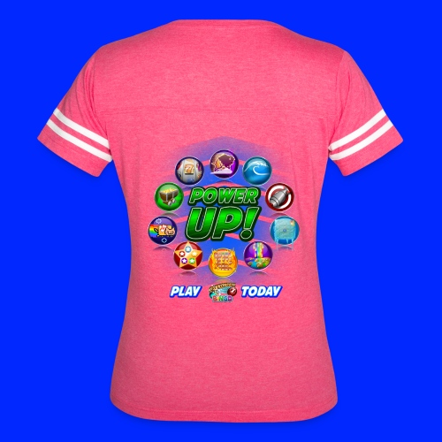 Vintage Cannonball Bingo Power-Up Tee - Women's Vintage Sport T-Shirt