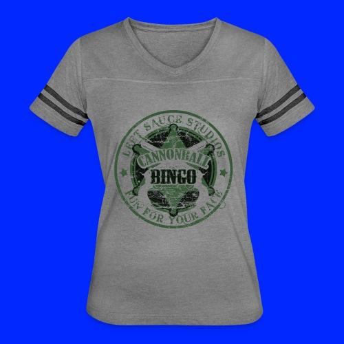 Vintage Cannonball Bingo Badge Dark Green - Women's Vintage Sport T-Shirt