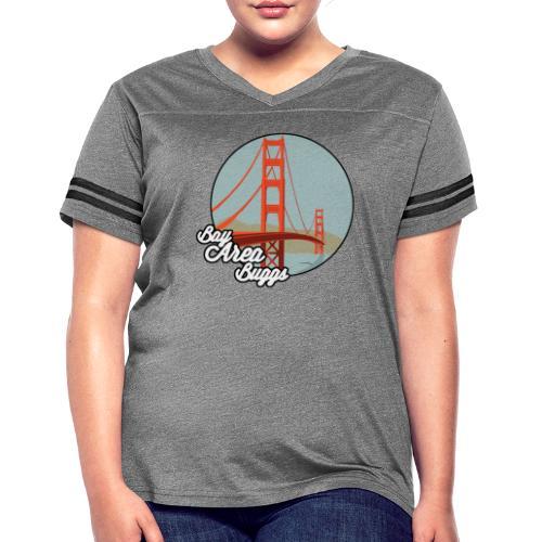 Bay Area Buggs Bridge Design - Women's Vintage Sports T-Shirt