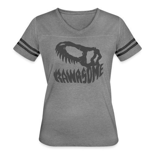 RAWRsome T Rex Skull by Beanie Draws - Women's Vintage Sports T-Shirt