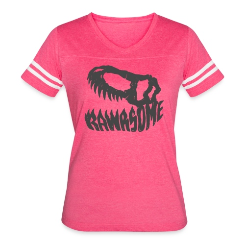 RAWRsome T Rex Skull by Beanie Draws - Women's Vintage Sport T-Shirt