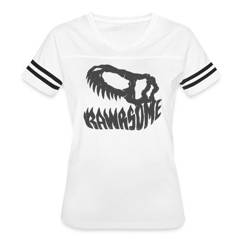 RAWRsome T Rex Skull by Beanie Draws - Women's Vintage Sport T-Shirt