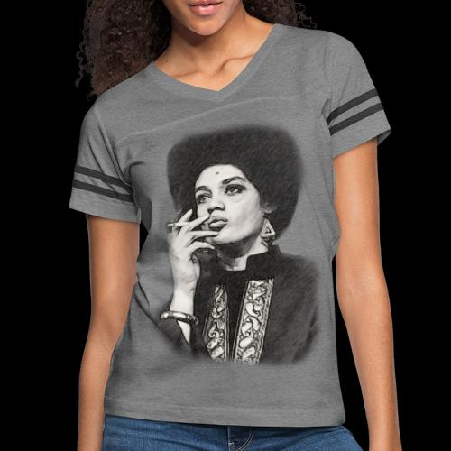 Lady Panther Smoking - Women's Vintage Sports T-Shirt