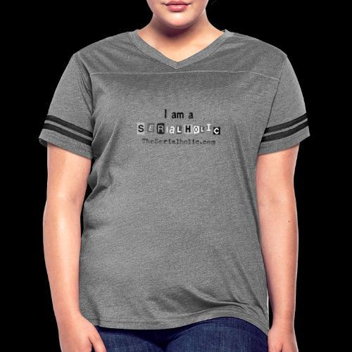 Black Serialholic Logo - Women's Vintage Sport T-Shirt