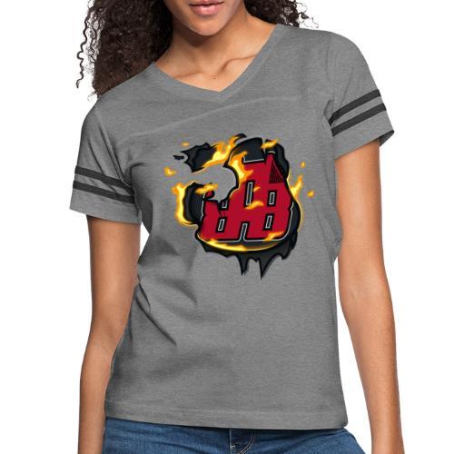 BAB Logo on FIRE! - Women's Vintage Sports T-Shirt