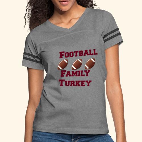 FOOTBALL FAMILY TURKEY TEE - Women's Vintage Sport T-Shirt