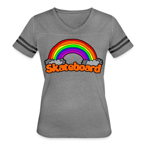 SK8 THE RAINBOW - Women's Vintage Sport T-Shirt