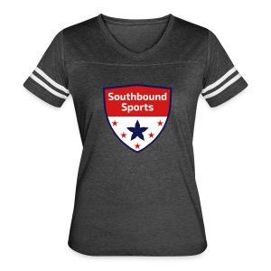 Southbound Sports Crest Logo - Women's Vintage Sport T-Shirt