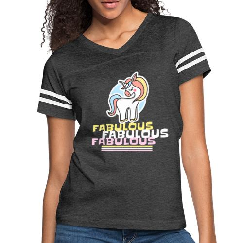Unicorn 1 - Women's Vintage Sports T-Shirt