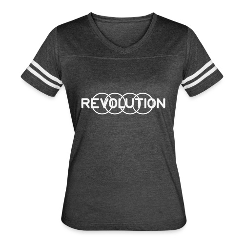 White Revolution Logo - Women's Vintage Sport T-Shirt