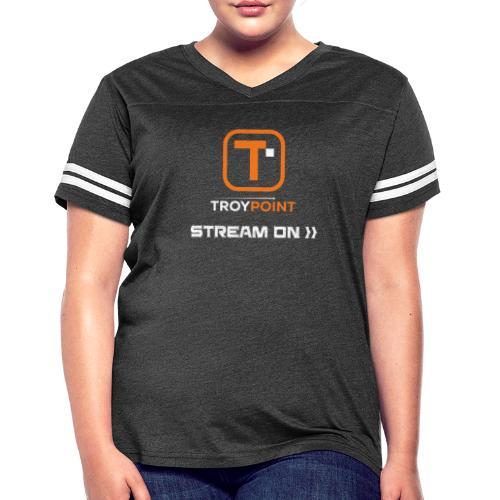 TROYPOINT Stream On Orange Logo - Women's Vintage Sport T-Shirt