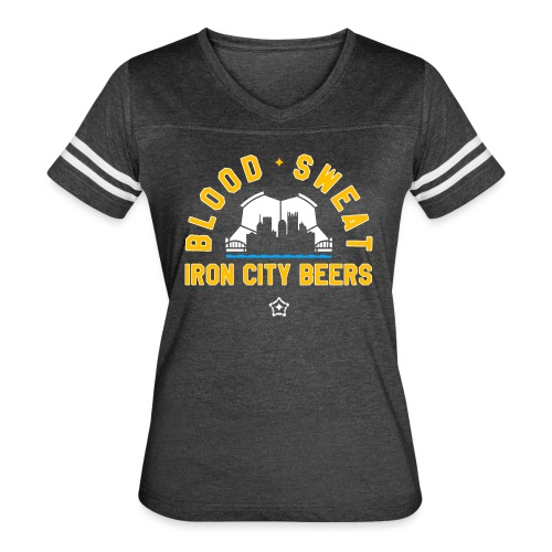 Blood, Sweat and Iron City Beers - Women's Vintage Sport T-Shirt