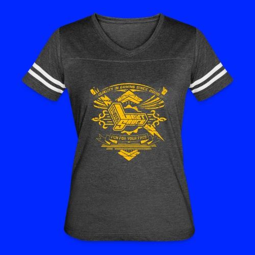 Vintage Leet Sauce Studios Crest Gold - Women's Vintage Sport T-Shirt