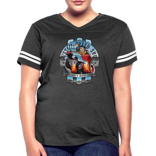 Custom Speed Shop Hot Rods and Muscle Cars Illustr - Women's Vintage Sport T-Shirt