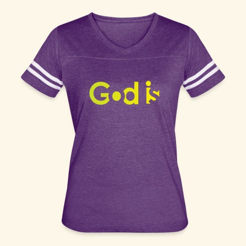 GOD IS #7 - Women's Vintage Sport T-Shirt