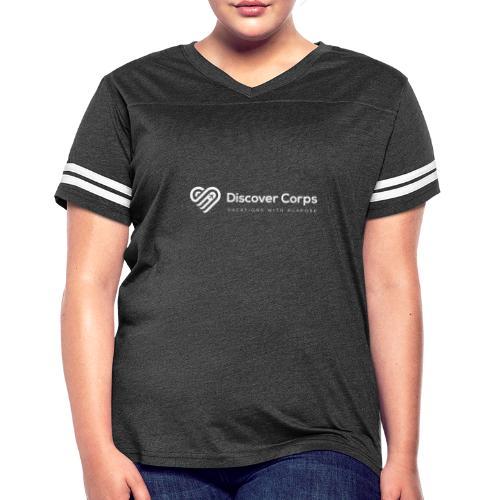 DiscoverCorp Logo Horizontal Rev High white - Women's Vintage Sport T-Shirt