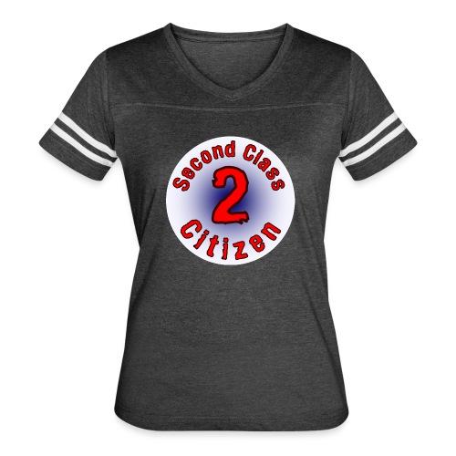 2nd Class Citizen Logo (Light) - Women's Vintage Sports T-Shirt