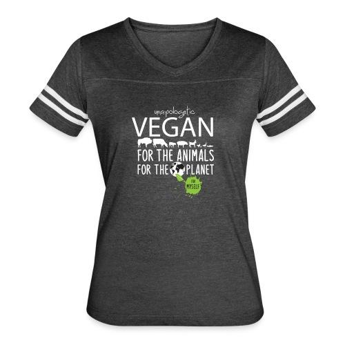 unapologetic VEGAN - Women's Vintage Sports T-Shirt