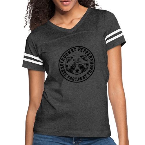 RocketPepper39 Black - Women's Vintage Sports T-Shirt